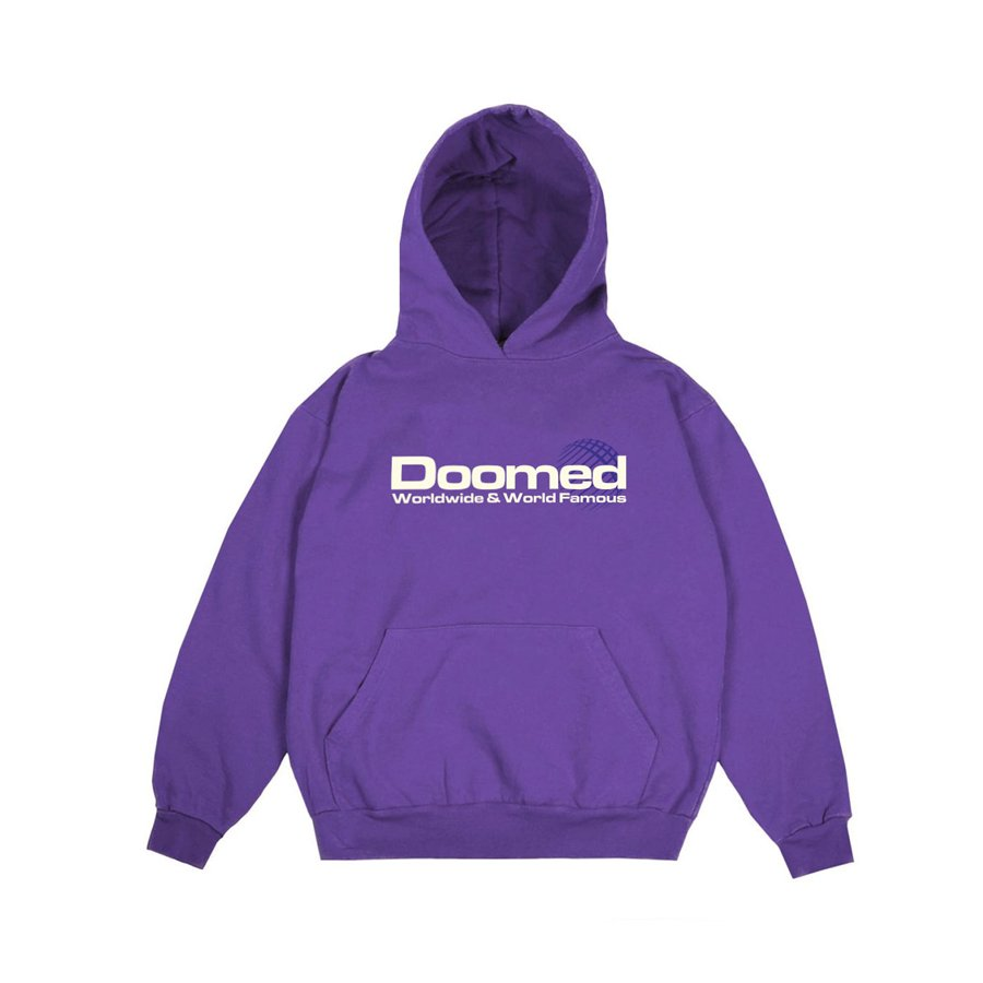 <img class='new_mark_img1' src='https://img.shop-pro.jp/img/new/icons5.gif' style='border:none;display:inline;margin:0px;padding:0px;width:auto;' />DOOMED - WORLD FAMOUS HOOD/PURPLE