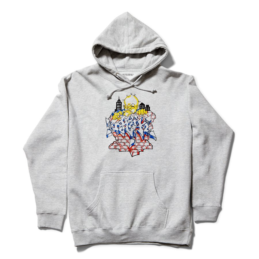 <img class='new_mark_img1' src='https://img.shop-pro.jp/img/new/icons8.gif' style='border:none;display:inline;margin:0px;padding:0px;width:auto;' />ACT LIKE YOU KNOW - ALL CITY HOODED SWEAT SHIRT / GREY