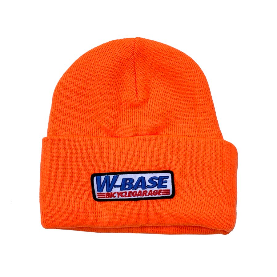 W-BASE - CONVOY LOGO PATCH BEANIE / NEON ORANGE