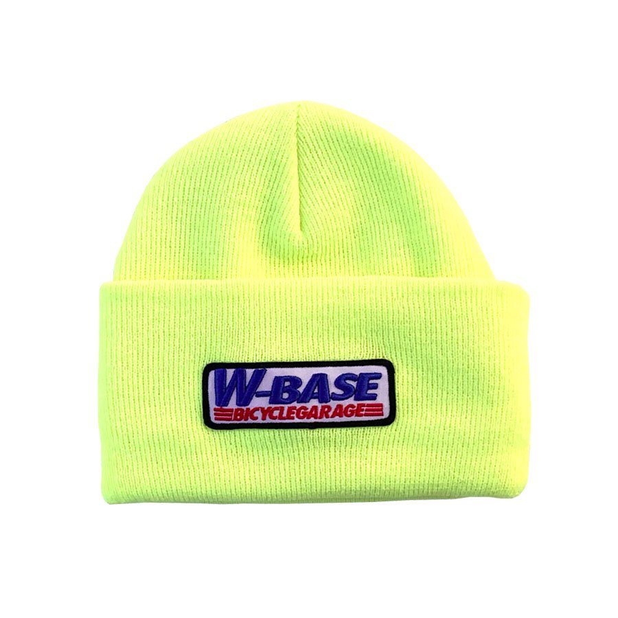 W-BASE - CONVOY LOGO PATCH BEANIE / NEON YELLOW