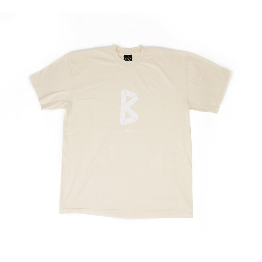 BROOKLYN MACHINE WORKS - B LOGO TEE - CREAM
