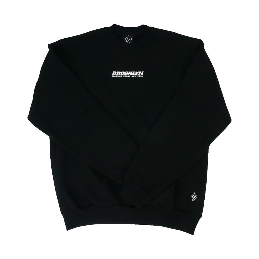 BROOKLYN MACHINE WORKS - BROOKLYN CREW SWEAT - BLACK