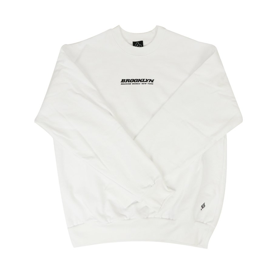 BROOKLYN MACHINE WORKS - BROOKLYN CREW SWEAT - WHITE