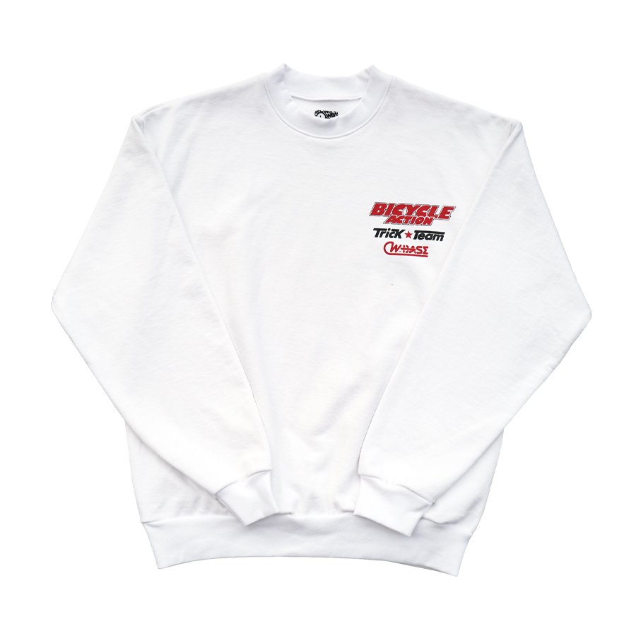 <img class='new_mark_img1' src='https://img.shop-pro.jp/img/new/icons8.gif' style='border:none;display:inline;margin:0px;padding:0px;width:auto;' />W-BASE - SHOP CREWNECK SWEAT WHITE