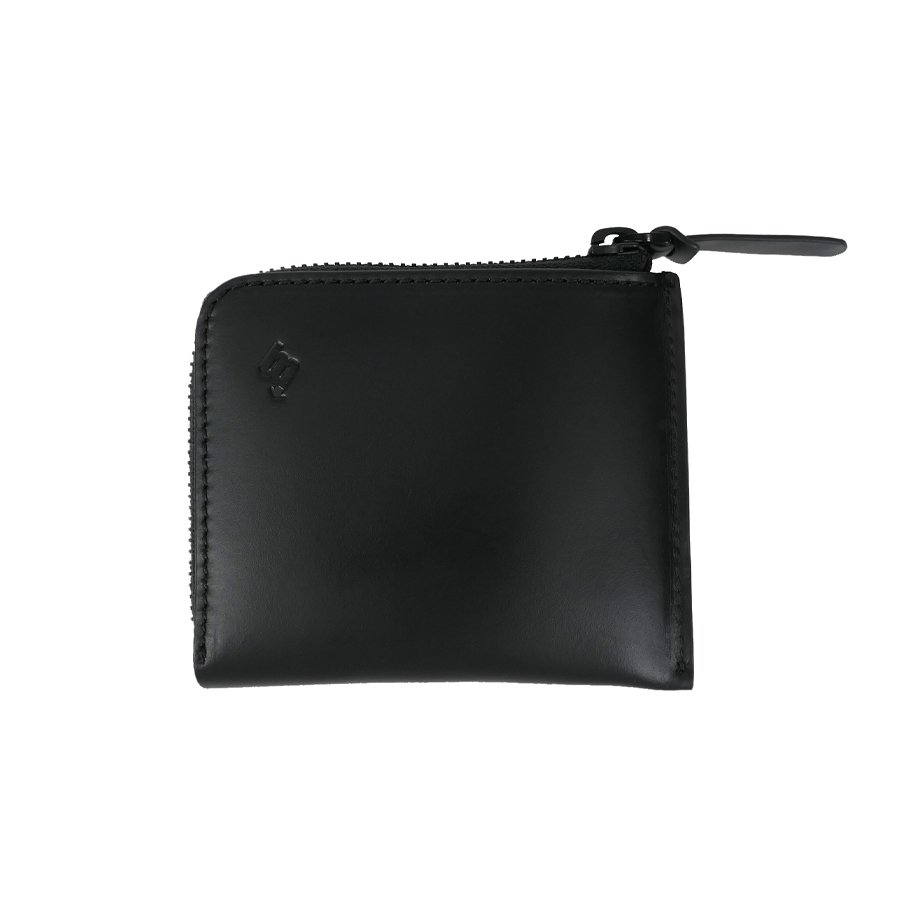 BROOKLYN MACHINE WORKS - MICRO WALLET ( L-ZIP ) BLACK