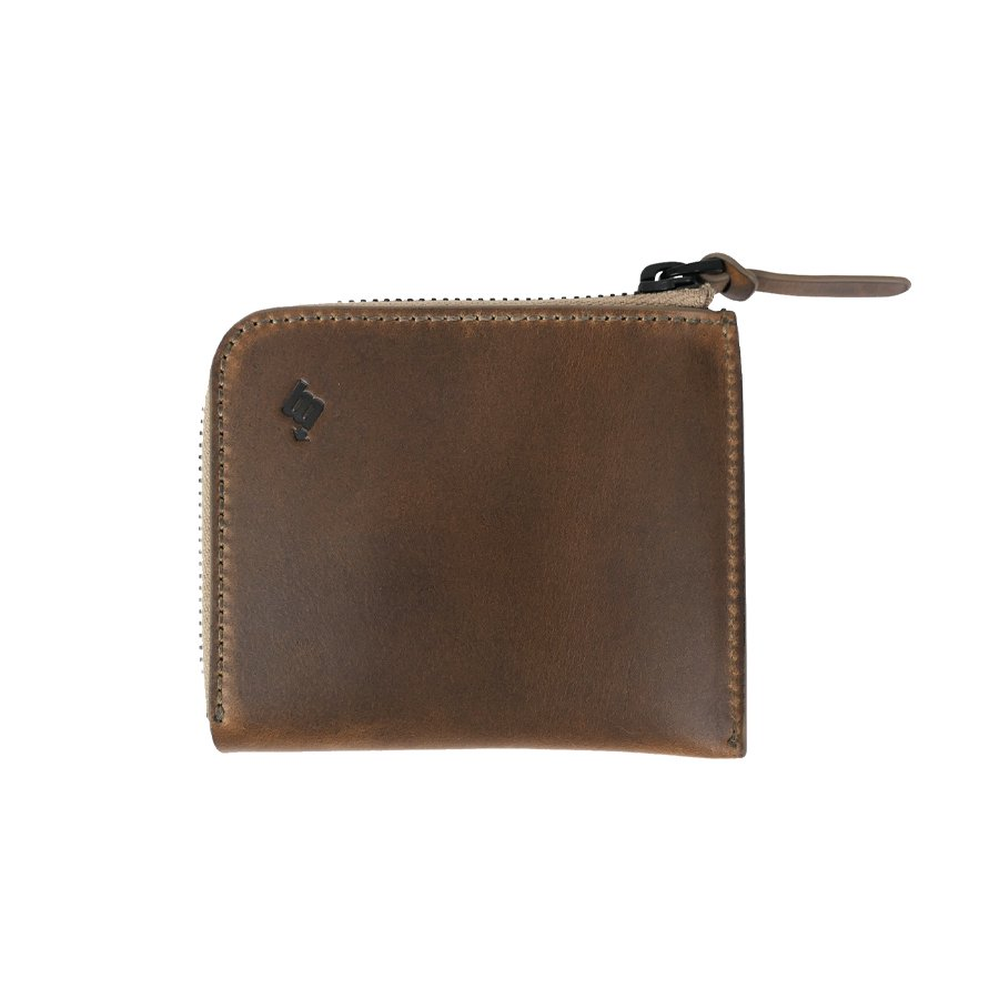 BROOKLYN MACHINE WORKS - MICRO WALLET ( L-ZIP ) NATURAL