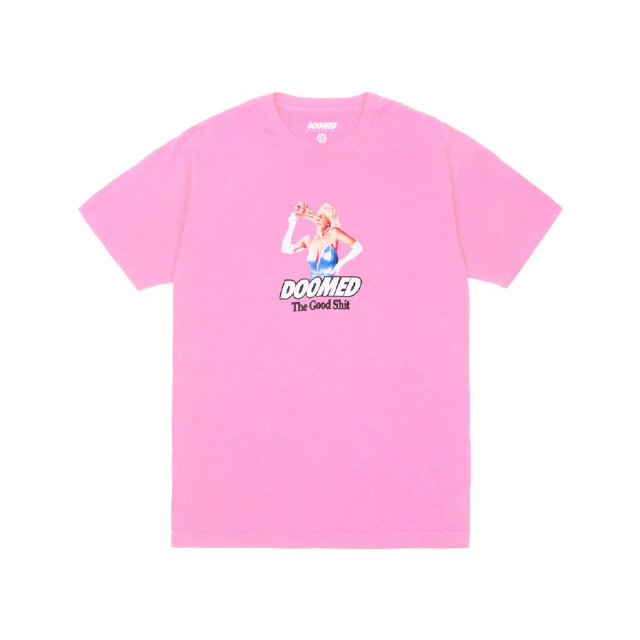 <img class='new_mark_img1' src='https://img.shop-pro.jp/img/new/icons2.gif' style='border:none;display:inline;margin:0px;padding:0px;width:auto;' />DOOMED - FACE OFF TEE/Pink