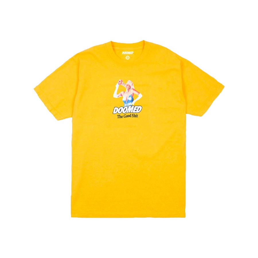 <img class='new_mark_img1' src='https://img.shop-pro.jp/img/new/icons2.gif' style='border:none;display:inline;margin:0px;padding:0px;width:auto;' />DOOMED - FACE OFF TEE/Yellow