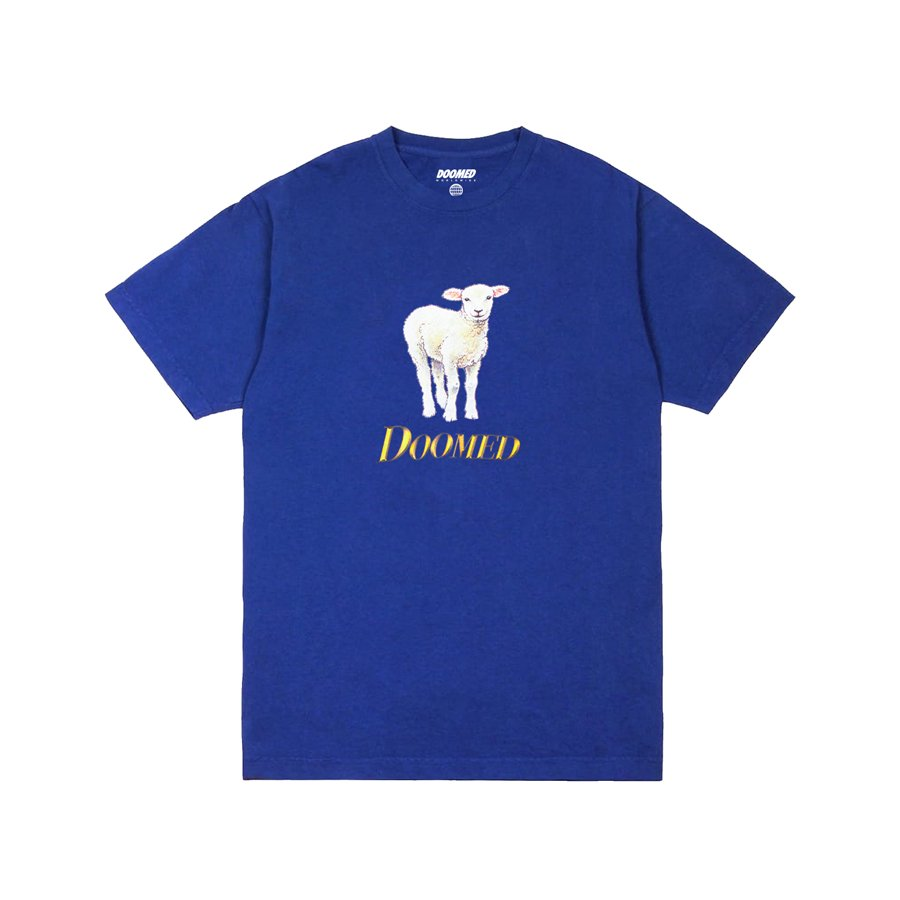 <img class='new_mark_img1' src='https://img.shop-pro.jp/img/new/icons2.gif' style='border:none;display:inline;margin:0px;padding:0px;width:auto;' />DOOMED - LAMB OF GOOD TEE/Royal Blue