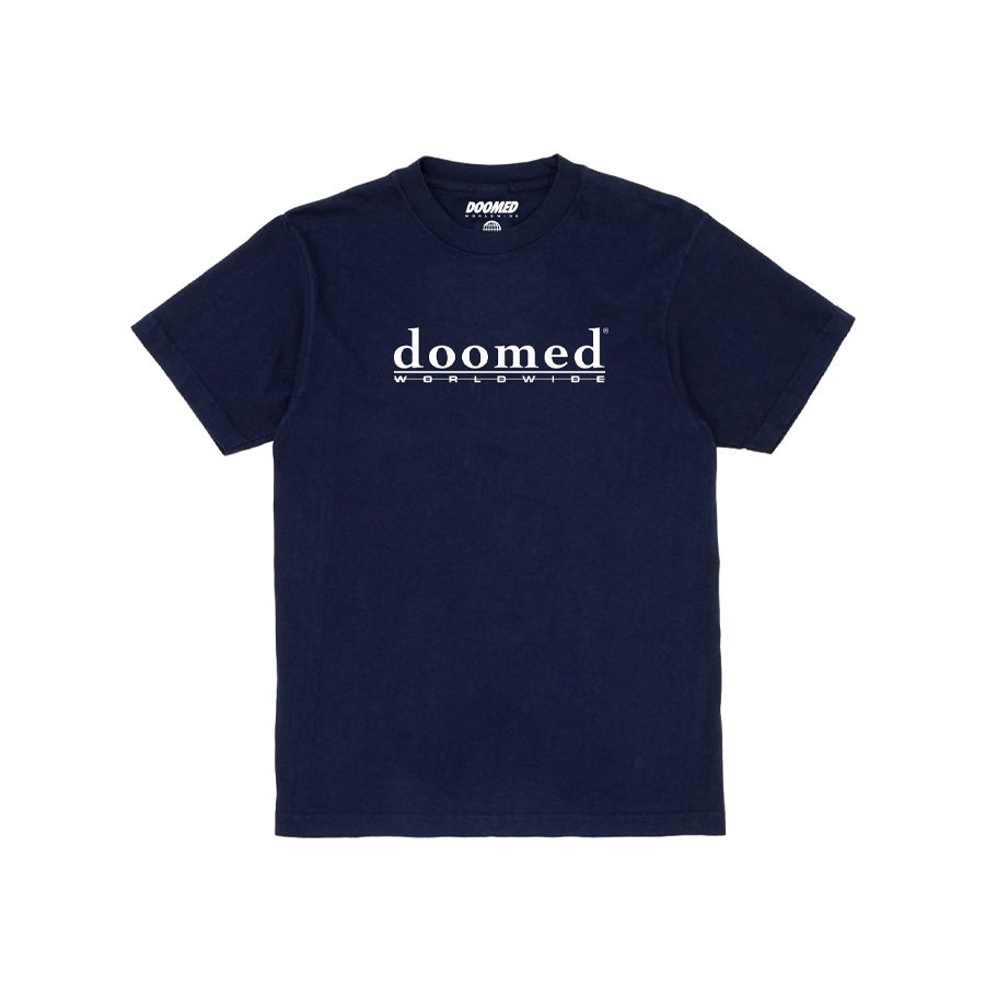 <img class='new_mark_img1' src='https://img.shop-pro.jp/img/new/icons2.gif' style='border:none;display:inline;margin:0px;padding:0px;width:auto;' />DOOMED - ODELATE TEE/Navy