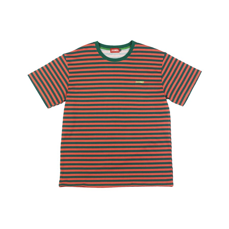 <img class='new_mark_img1' src='https://img.shop-pro.jp/img/new/icons2.gif' style='border:none;display:inline;margin:0px;padding:0px;width:auto;' />DOOMED - STRIPE TEASE TEE EMBROIDER
