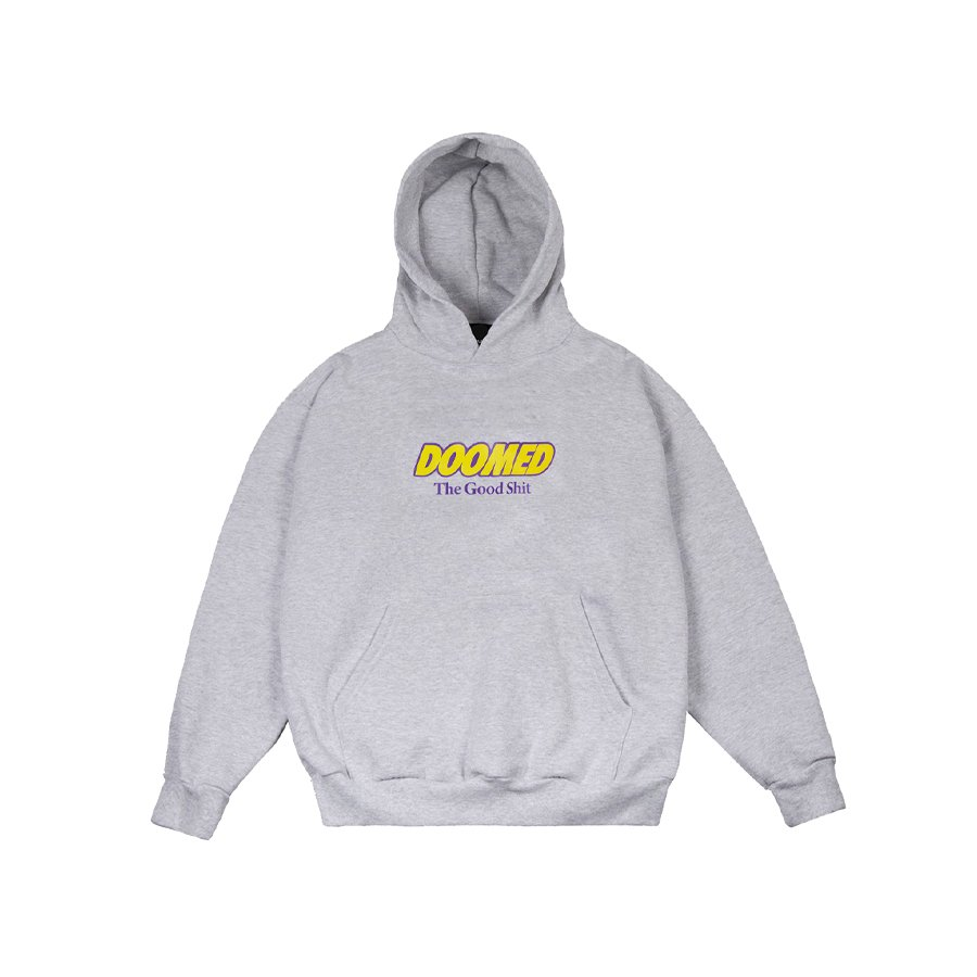 <img class='new_mark_img1' src='https://img.shop-pro.jp/img/new/icons2.gif' style='border:none;display:inline;margin:0px;padding:0px;width:auto;' />DOOMED - THE GOOD SHIT HOODY/Grey