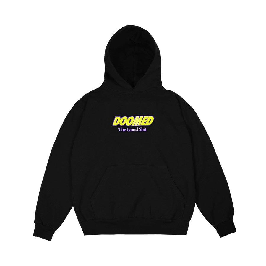 <img class='new_mark_img1' src='https://img.shop-pro.jp/img/new/icons2.gif' style='border:none;display:inline;margin:0px;padding:0px;width:auto;' />DOOMED - THE GOOD SHIT HOODY/Black