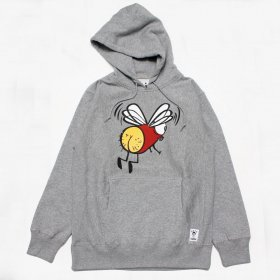 PANCAKE - FLY ICON HOODIE - GREY