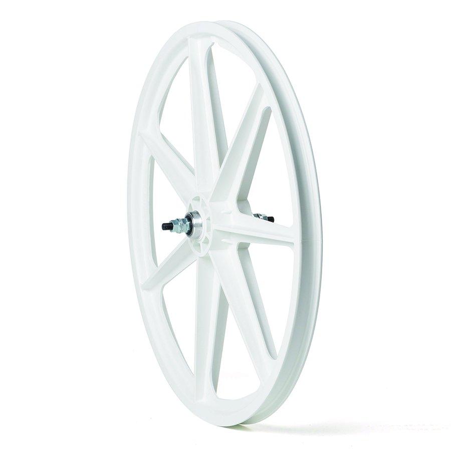 """24/"""" Skyway Tuff Wheel 2 Mag WHEELSET white 24/"""" wheel set white 7 T SPOKE"""