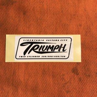 LIBERTARIA/TRIUMPH ステッカー ブラック/ホワイト