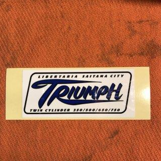 LIBERTARIA/TRIUMPH ステッカー ブルー/ホワイト