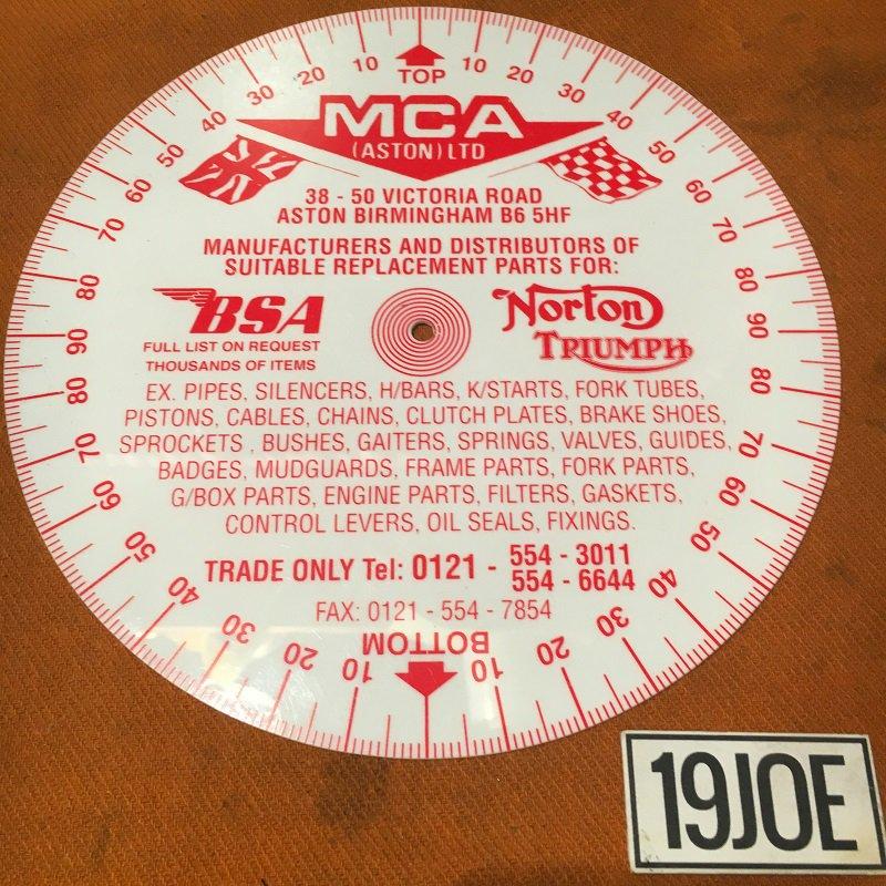 タイミングディスク MCA プラスチック製