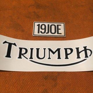 デカール  TRIUMPH ブラック