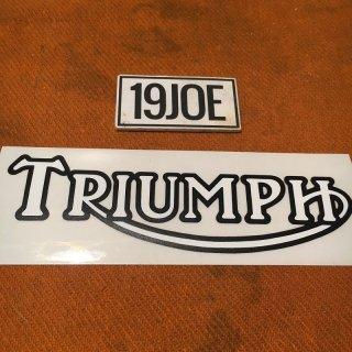 デカール  TRIUMPH ホワイト