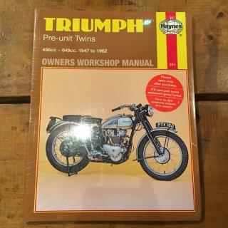 HAYNESマニュアル Triumph 47-62年500/650