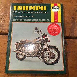 HAYNESマニュアル Triumph 63-83年650/750