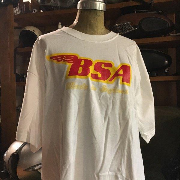 T-shirt  BSA ロゴ L