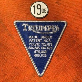 クロスパッチ Triumphパテント ブルー