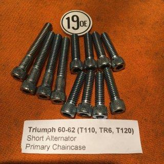 P/Mカバー アレンスクリューセット 60-62年オルタネーター TR6/T110/T120