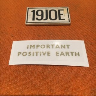 デカール IMPORTANT POSITIVE EARTH