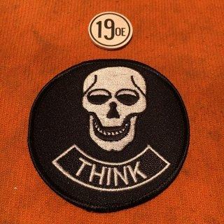 クロスパッチ Think Skull シルバーxブラック