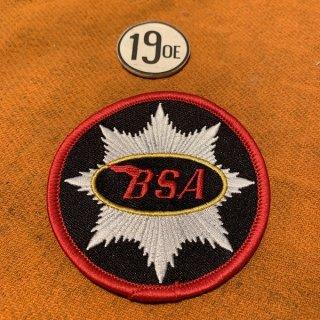 クロスパッチ BSA ラウンド ブラックxシルバー