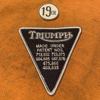 クロスパッチ Triumphパテント ブラックxシルバー