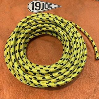 クロスカバープラグコ—ド 黄x黒 10cm