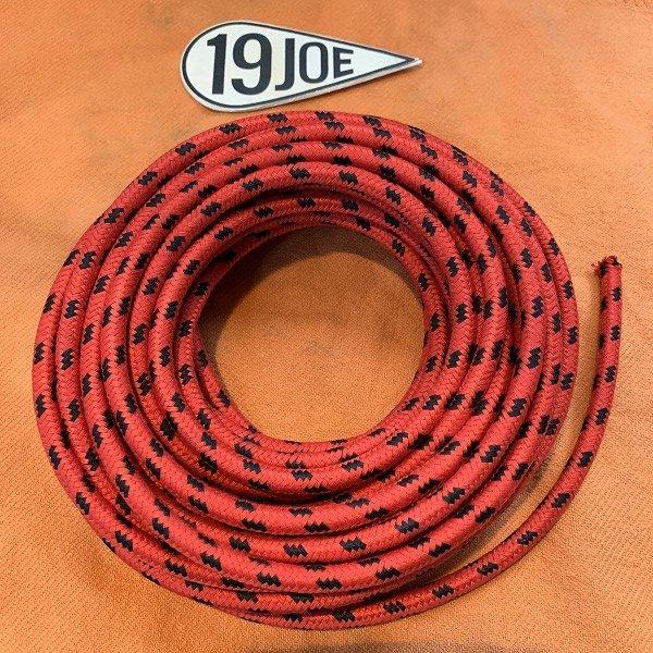 クロスカバープラグコ—ド 赤x黒 10cm
