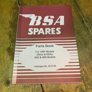 パーツカタログ BSA A50/A65  67年