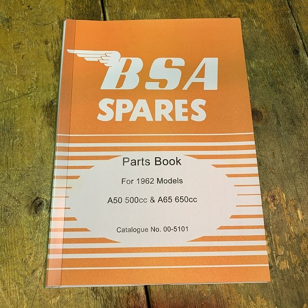 パーツカタログ BSA A50/A65  62年
