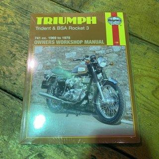 HAYNESマニュアル Triumph&BSA トリプルス 69-75年