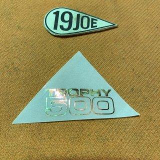 デカール TROPHY500 ゴールド