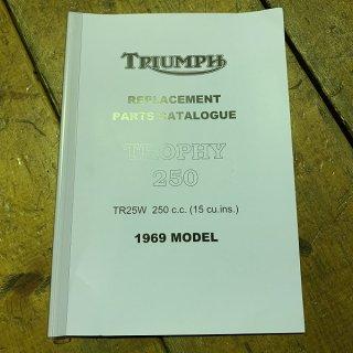 パーツカタログ TR25W  69年