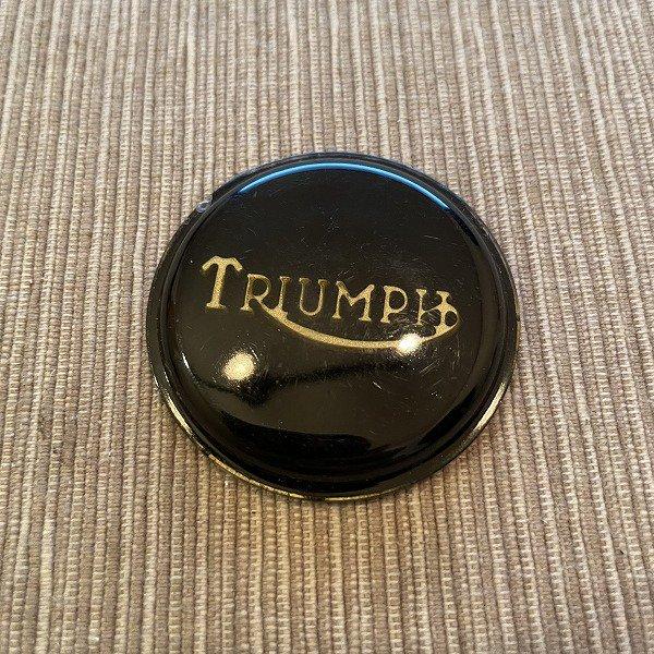 センターマウントバッジ ブラック&ゴールド Triumph750ツイン