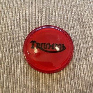センターマウントバッジ レッド&ブラック Triumph750ツイン