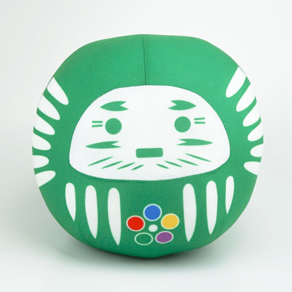 【開運・ハピネスダルマ・プレミアム緑】BIG25�ぬいぐるみ