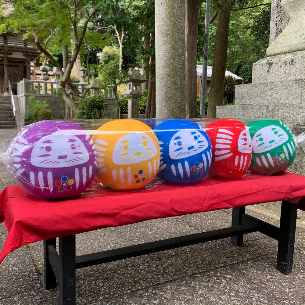 【開運・ハピネスダルマ】プレミアム超BIGぬいぐるみ5色結成セット