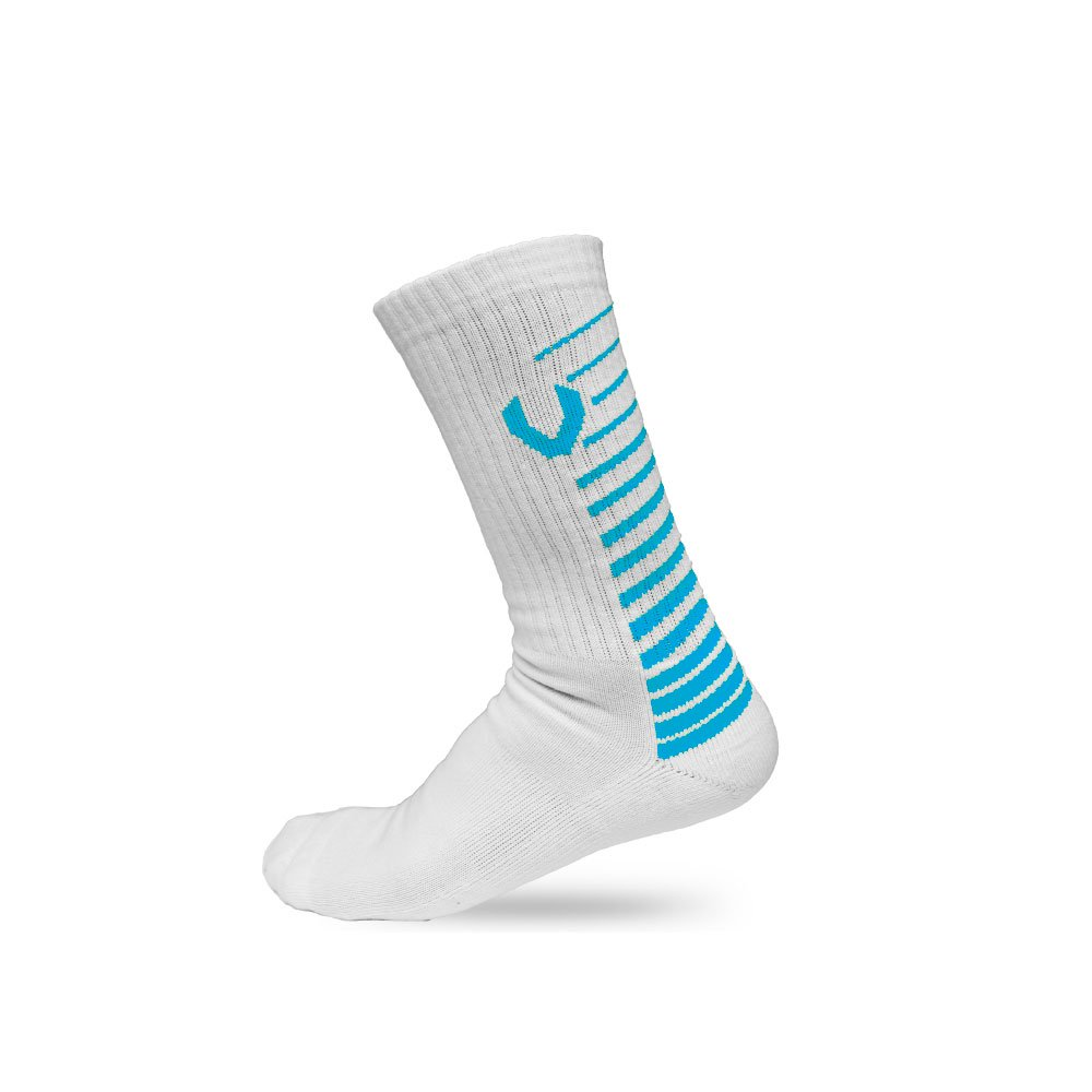 LACROSSE SOCKS WHITE/BLUE