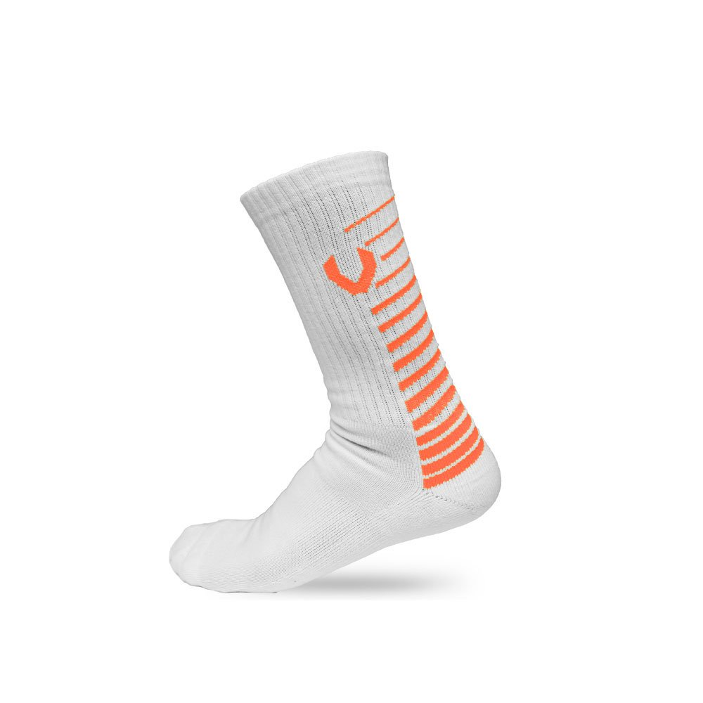 LACROSSE SOCKS WHITE/ORANGE