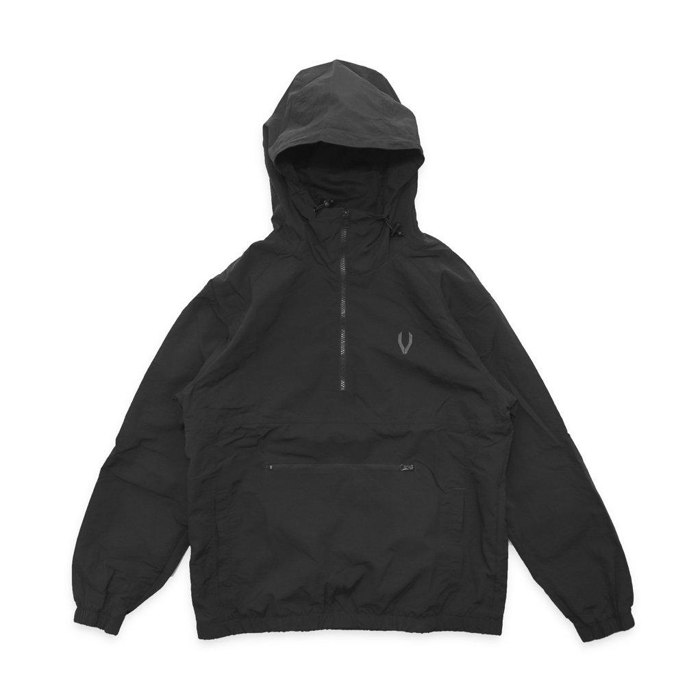 VASALLO 1/2 Zip Hoodie Pullover(BLACK)