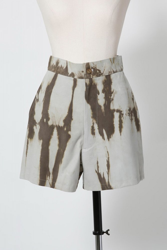 TIE DYE LEATHER SHORTS