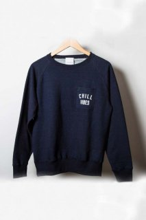 ASC Indigo Pocket Crew Neck<CHILL VIBES>