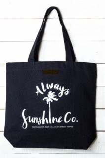 Sunshine Palm Tree TOTE BAG ナチュラル&ブラック